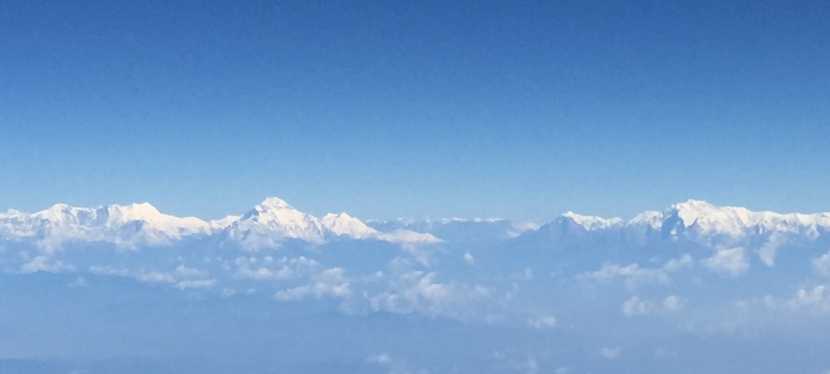 First Glimpse of the Himalayas