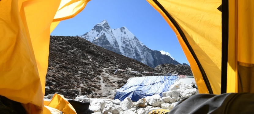Day 12 – Climbing clinic at Base Camp and climb to high camp